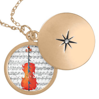 Cello & I Rock!_ Gold Plated Necklace