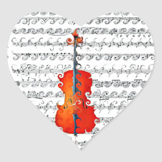 Cello & I Rock!_ Heart Sticker
