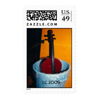 Cello in trashcan, LC 2009 Postage Stamps