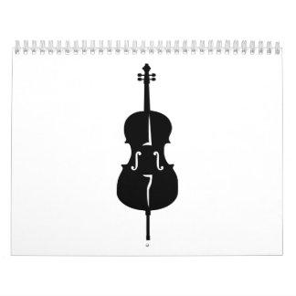 Cello instrument calendar