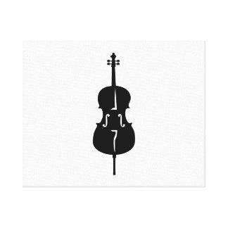 Cello instrument gallery wrap canvas