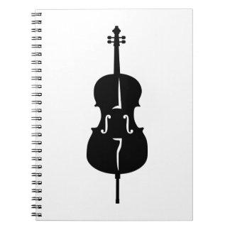 Cello instrument spiral note books