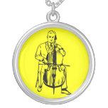 Cello man plays Bach Personalisierte Halskette