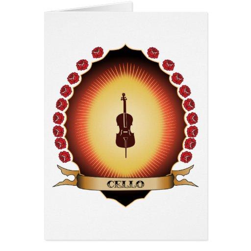 Cello Mandorla Card