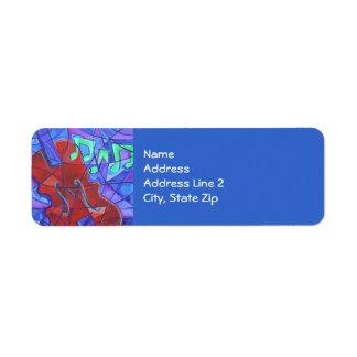 Cello Mosaic Return Address Label