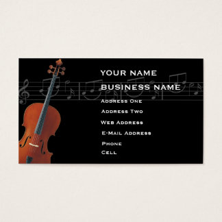 Cello - Music Business Card