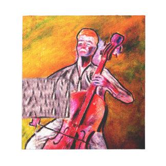 cello musician music orchestra design notepad