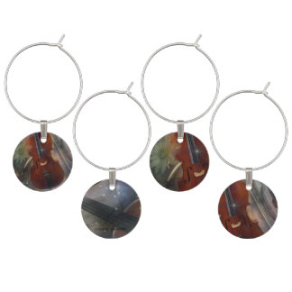 Cello, Oboe and Flute Wine Charm