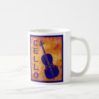 Cello of Fiery Background Coffee Mug