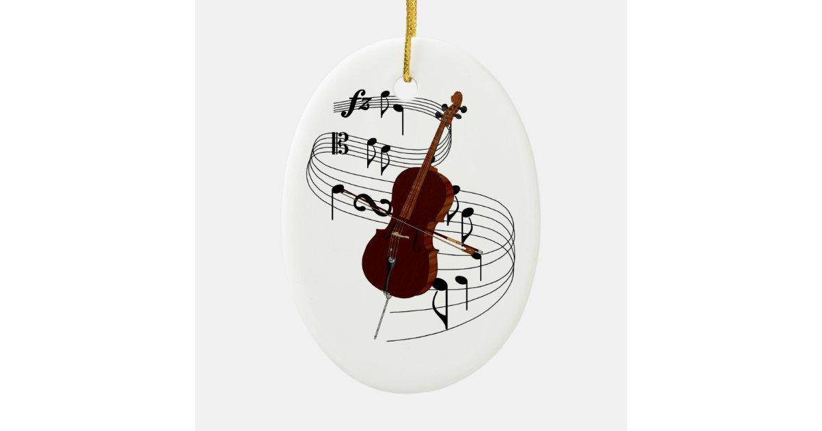 Cello Christmas Ornament