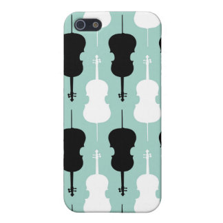 Cello Pattern - Teal iPhone SE/5/5s Case