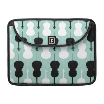 Cello Pattern - Teal MacBook Pro Sleeve