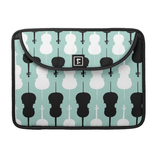 Cello Pattern - Teal MacBook Pro Sleeve