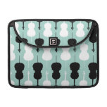 Cello Pattern - Teal Sleeve For MacBooks