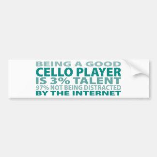 Cello Player 3% Talent Bumper Sticker