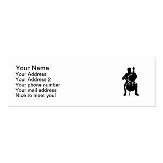 Cello player mini business card