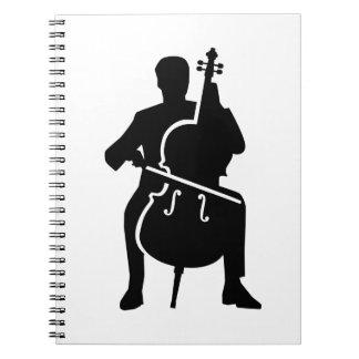 Cello player spiral notebooks