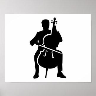 Cello player print