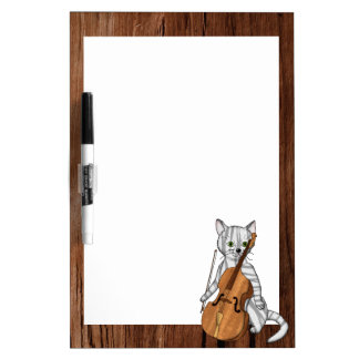 Cello-Playing Tiger Cat Dry-Erase Board