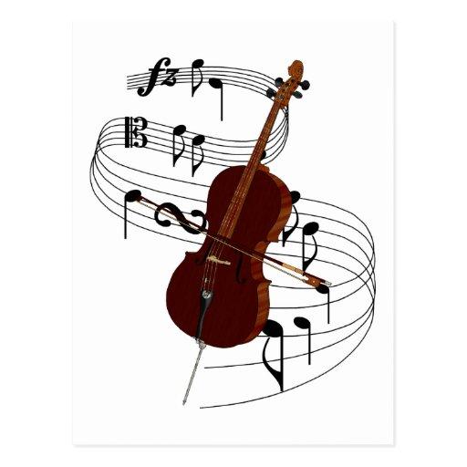 Cello Postcard