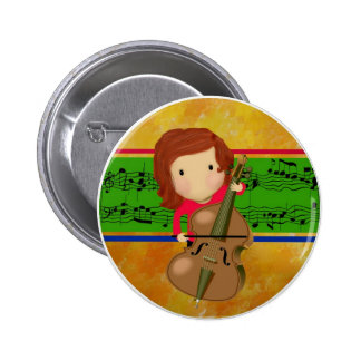 Cello Practice Pinback Button