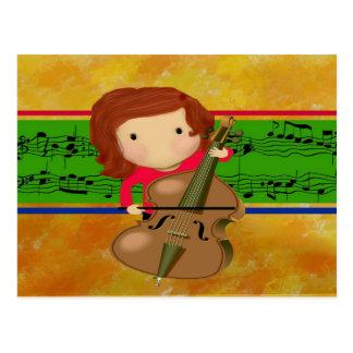 Cello Practice Postcard
