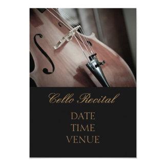 Cello Recital elegant stylish performance Card