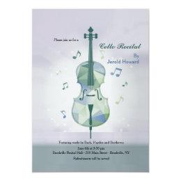 Cello Recital Gray Invitation