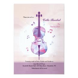 Cello Recital Invitation