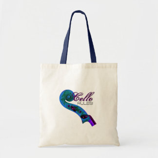 Cello Rules Tote Canvas Bags