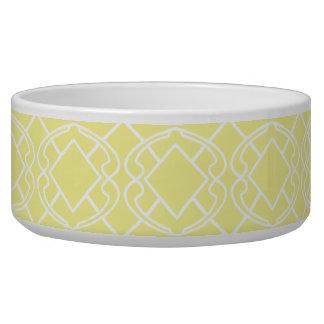 Cello Soft Butter Yellow Trellis Design Bowl