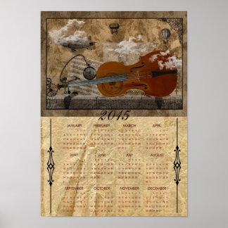 Cello Steampunk 2015 Full Year Calendar Print