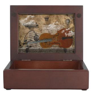 Cello Steampunk Keepsake Box