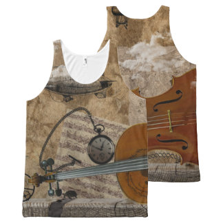 Cello Steampunk Suite All-Over Print Tank Top
