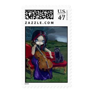"""Cello Storm"" Stamp"