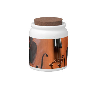 Cello Strings Stringed Instrument Wood Instrument Candy Jar