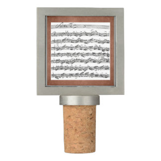 Cello Suite by Bach in Aged Leather Look Frame Wine Stopper