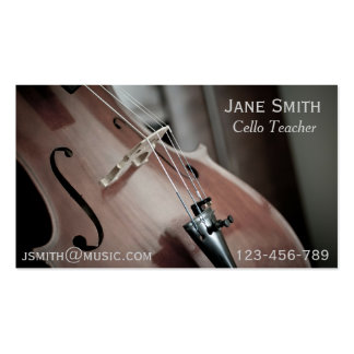 Cello Teacher String instrument music tutor Double-Sided Standard Business Cards (Pack Of 100)