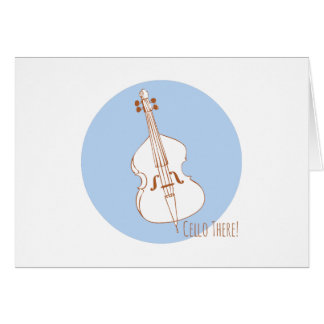 Cello There Greeting Card