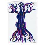 Cello Tree Blue Blank Card