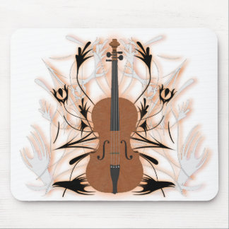 Cello & Tribal Artwork: Custom Mousepad