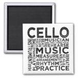 Cello Typography Fridge Magnets