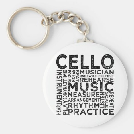 Cello Typography Keychain