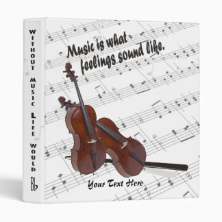 Cello Version – Music Is What Feelings Sound Like 3 Ring Binder