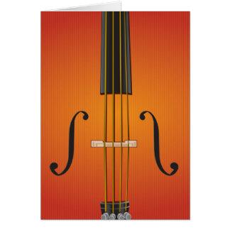 Cello, violin, viola notecard design