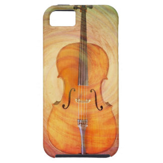Cello with warm colorful textured background. iPhone 5 case