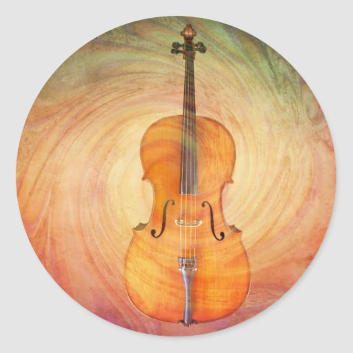 Cello with warm colorf...