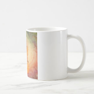 Cello with warm colorful textured background. coffee mug