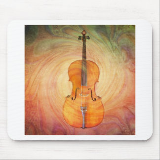 Cello with warm colorful textured background. mouse pad