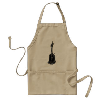 Cello Woodcut Illustration Aprons